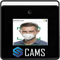 CAMS : Face Recognition With Mask Detection (WIFI Based) Attendance System,Fast face detection which detects and records attendance while the user walks closer to the device.   Anti-spoofing algorithm against most of color and B/W photos, videos attack and 3D mask attack.  Supplement lighting with adjustable brightness. Exquisite and compact, easy to install.