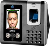 """CAMS : Face Recognition with Temperature Attendance and Access Control System,Detects face and temperature from 50cm (0.5m). Supports 3000-5000 Face, Fingerprint, card and password for recording attendance. Access control supports Push button and proximity rfid card. Optionally it can be upgraded to support miFare rfid card. <br><br>  <br><br> Additionally Battery can be attached. The device/clock supports fingerprint/card exit reader and push button for exit. it can be attached WiFI and GPRS/3G/4G additionally. It is a high end model and comes with lowest price in the global industry with such features.  it supports only numerical user id while adding the user in the device. No Break In/Out support  <br><br> One of the following automatic punch state can be set <ul> <li>1. Treat all the Punches as IN</li> <li>2. Treat all the Punches as OUT</li> <li>3. Treat first entry as IN, next as OUT, and next as IN and next as OUT and etc.</li> <li>4 Treat first entry as IN, and rest of the entries as OUT</li> </ul> <br><br><p> Do you like to link this device with your own web application? <a href=""""http://camsunit.com/application/biometric-web-api.html"""" rel=""""WEB API for Biometric Attendance System"""">Click Here for WEB API Documentation</a> <br><br>It supports only numerical user id. And it supports only Check In and Check Out (no break in/out support)  <br><br>The error rate on the temperature is +0.5 to -0.5 Celsius on normal environment. It can go up to +1.0 to -1.0 degree Celsius in the dynamically change environment.  <br> <iframe width=""""100%"""" height=""""100%"""" src=""""https://www.youtube.com/embed/Hagh9-V6A6E?autoplay=0&mute=1"""" frameborder=""""0"""" allow=""""autoplay; encrypted-media"""" allowfullscreen></iframe>"""