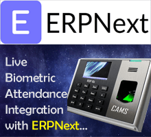 CAMS : Realtime Biometric Attendance Integration,This module helps to integrate the biometric attendance system with ERPNext server on real-time basis. No software or desktop is required for the setup. Only device should be connected online all the time to ensure the realtime communication.	
