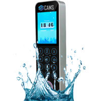 """CAMS : Fingerprint Access Control with Attendance System (Beautiful and Slim device),Highly elegant design, with touch pad and very light weight device. It supports fingerprint, card and password.  It has 2' inch TFT with clear work flow menu options. It is suitable access control device for good looking office.  It can be upgraded with <b>IP67 waterproof optionally</b>.  <br><br> The device/clock supports fingerprint/card exit reader and push button for exit. it can be attached WiFI additionally. It is a high end model and comes with lowest price in the global industry with such features.   <br><br><b>Note:</b>It supports numerical user id while adding the user in the device. no break in/out support. The supported exit reader is <a href=""""https://camsunit.com/product/CAMS-RC12-fingerprint-card-exit-reader-rs485.html"""" alt=""""Fingerprint Exit Reader""""> RC12 Exit Reader</a>.   <br><br> One of the following automatic punch state can be set <ul> <li>1. Treat all the Punches as IN</li> <li>2. Treat all the Punches as OUT</li> <li>3. Treat first entry as IN, next as OUT, and next as IN and next as OUT and etc.</li> <li>4 Treat first entry as IN, and rest of the entries as OUT</li> </ul> <br><br><p> Do you like to link this device with your own web application? <a href=""""https://camsunit.com/application/biometric-web-api.html"""" rel=""""Biometric API, Web API for Biometric Attendance"""">Click Here for WEB API Documentation</a>  <br> <iframe width=""""100%"""" height=""""100%"""" src=""""https://www.youtube.com/embed/SoaH9DVo4-Q?autoplay=0&mute=1"""" frameborder=""""0"""" allow=""""autoplay; encrypted-media"""" allowfullscreen></iframe>"""
